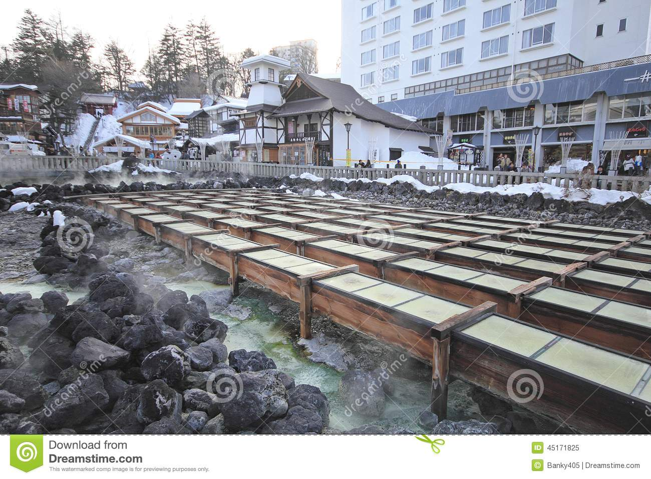 Kusatsu Japan  City pictures : Kusatsu Onsen is one of Japan's most famous hot spring resorts and is ...