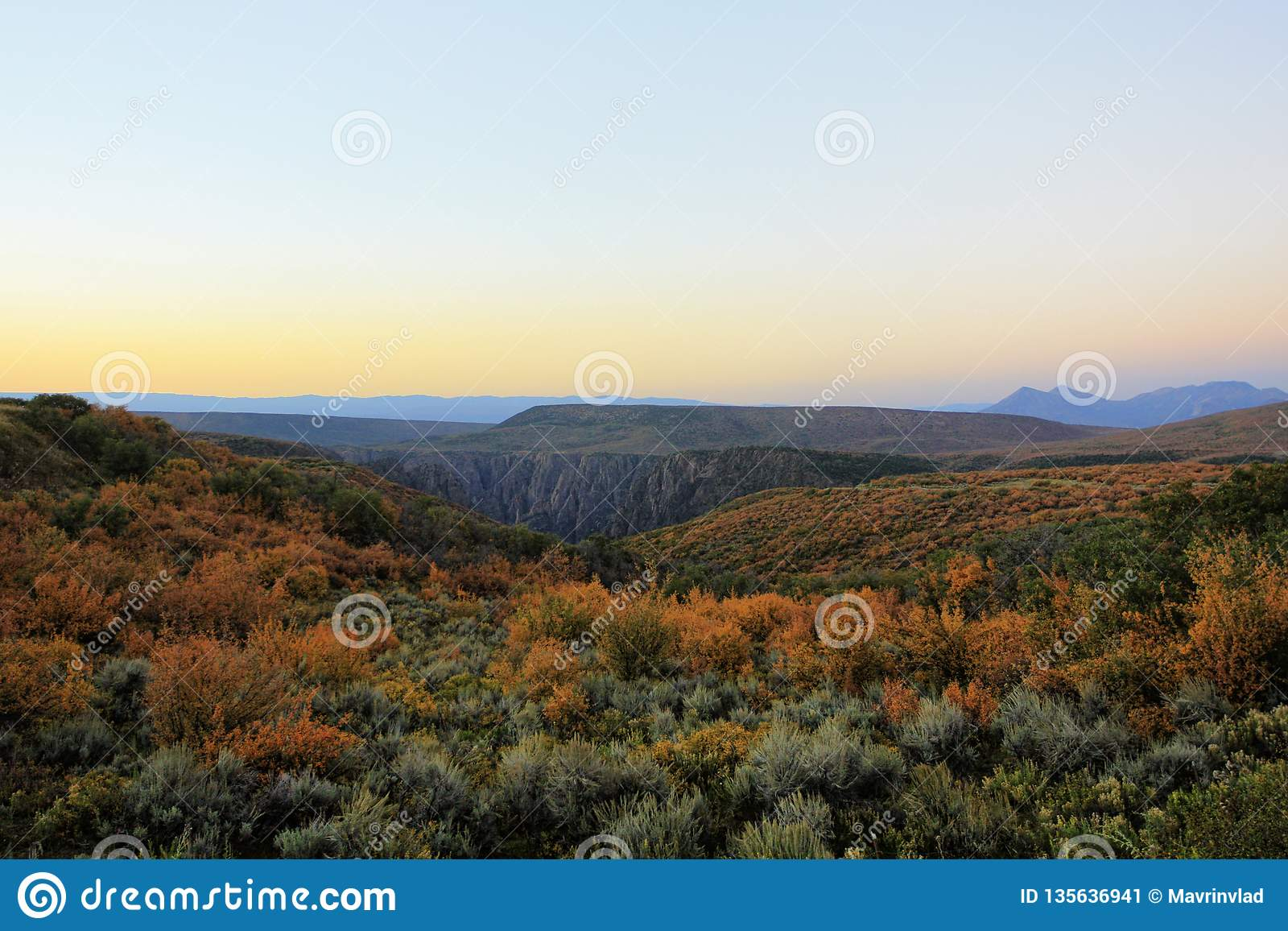 Gunnison的黑峡谷,科罗拉多,美国