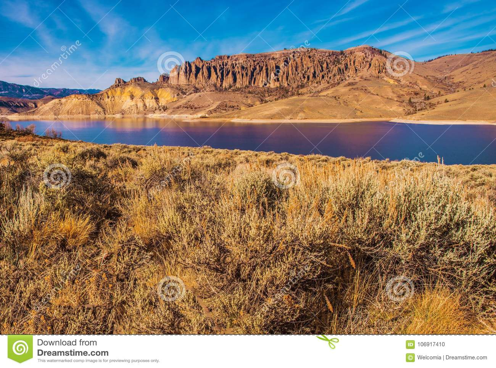 Gunnison rzeki rezerwuar