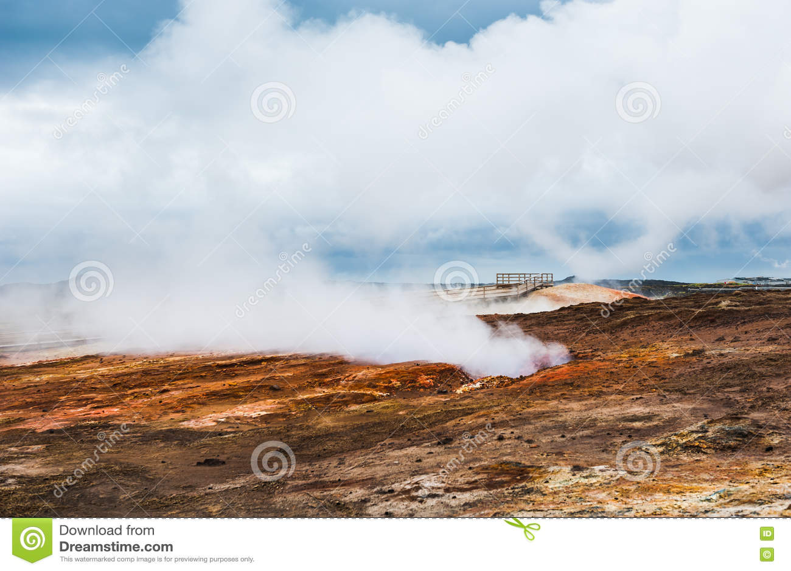 Gunnuhver geotermiczny teren w Iceland