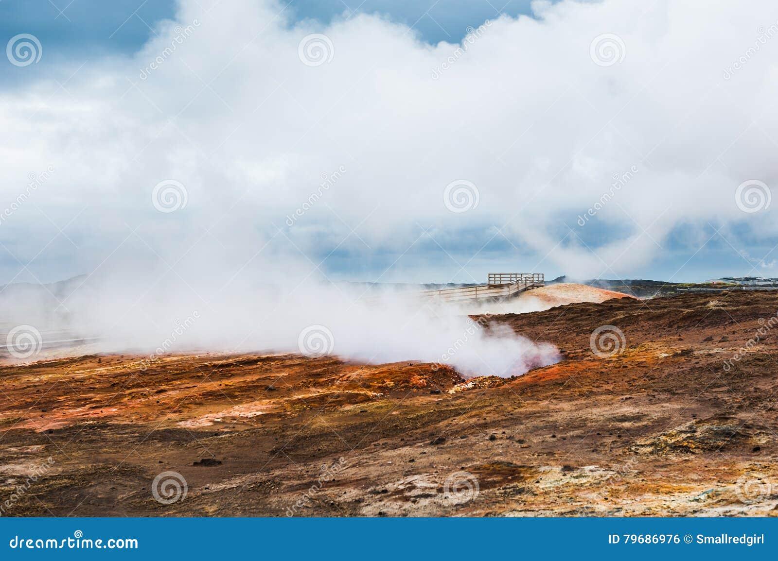 Gunnuhver geothermisch gebied in IJsland