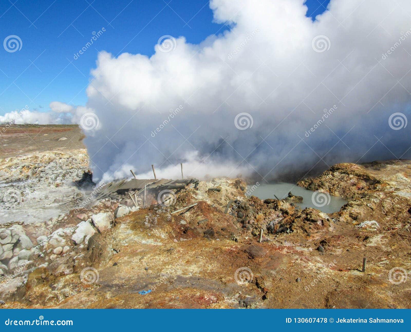 Gunnuhver geothermisch gebied - Krà ½ suvÃk, Seltun, Globale Geopark, Geothermisch actief gebied in IJsland