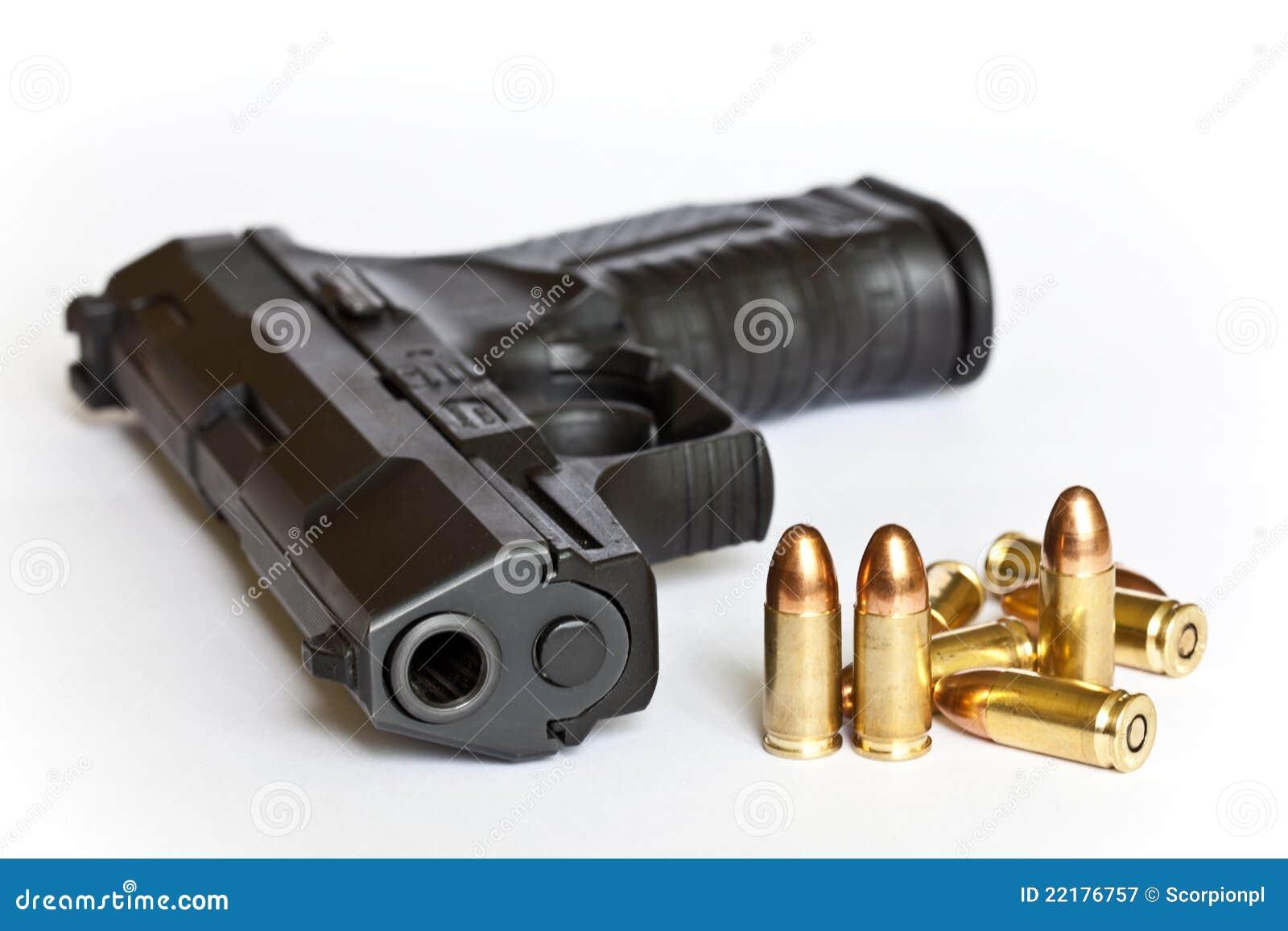 Guns And Bullets Royalty Free Stock Photography Image