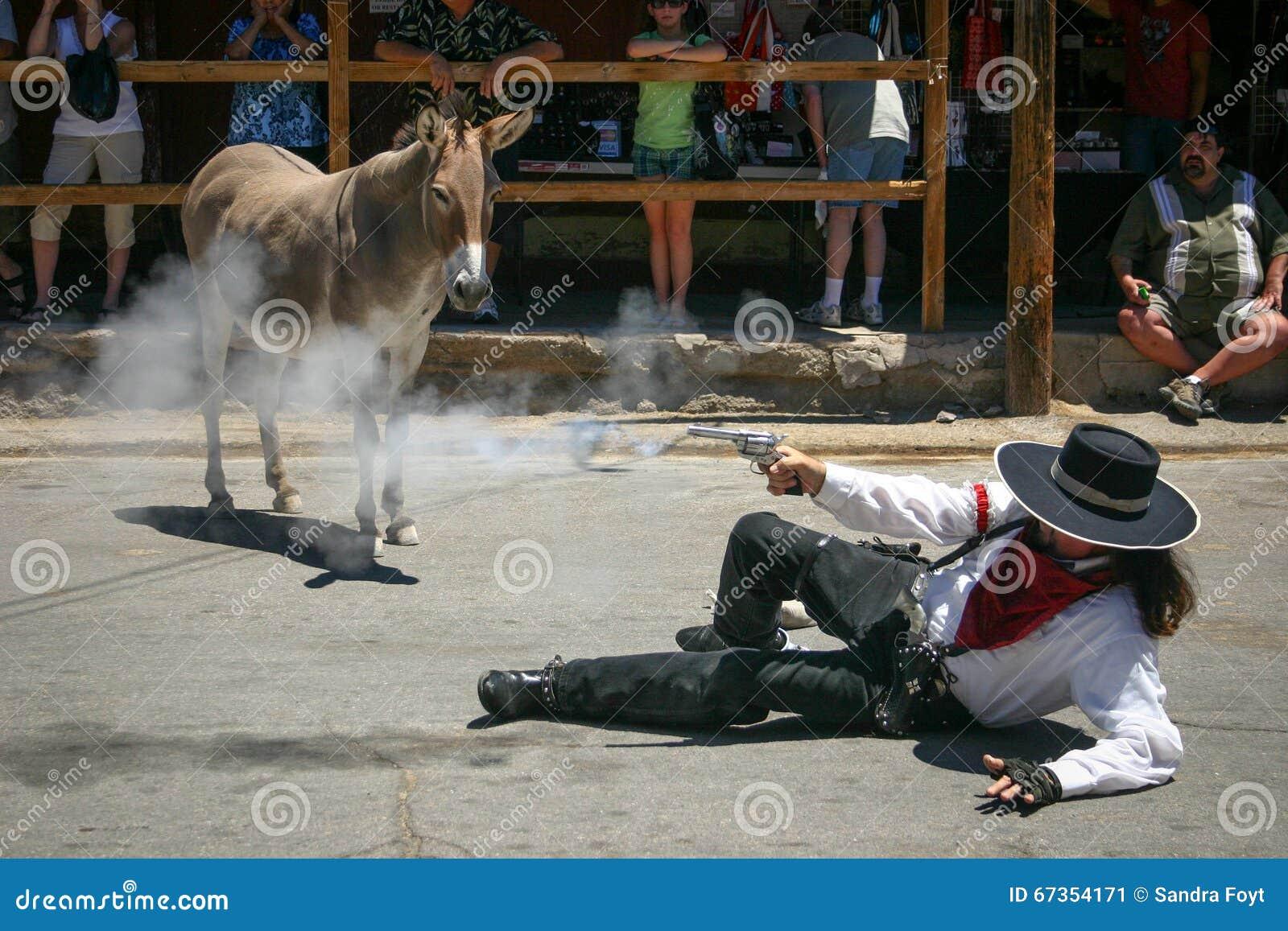 Gunslinger and the Smoking Gun - Oatman, AZ