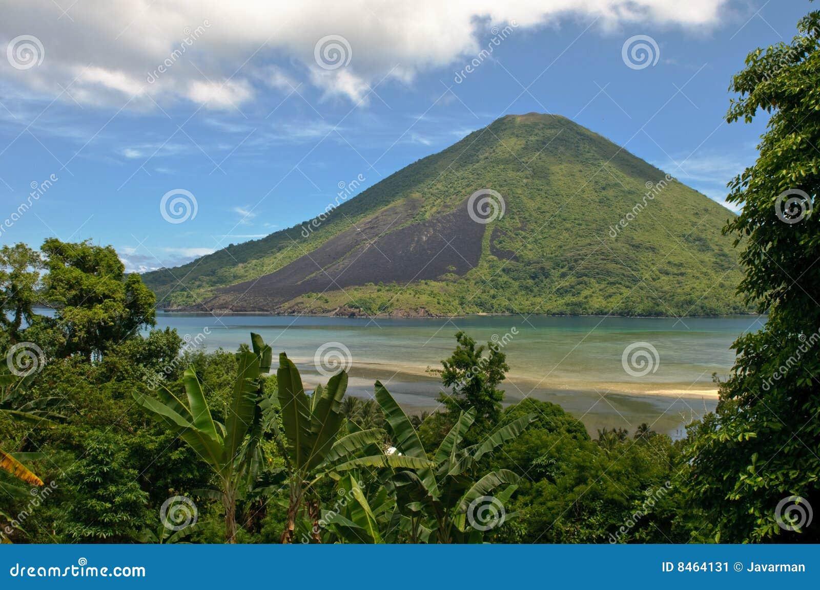 Gunung Api vulkan, Banda öar, Indonesien