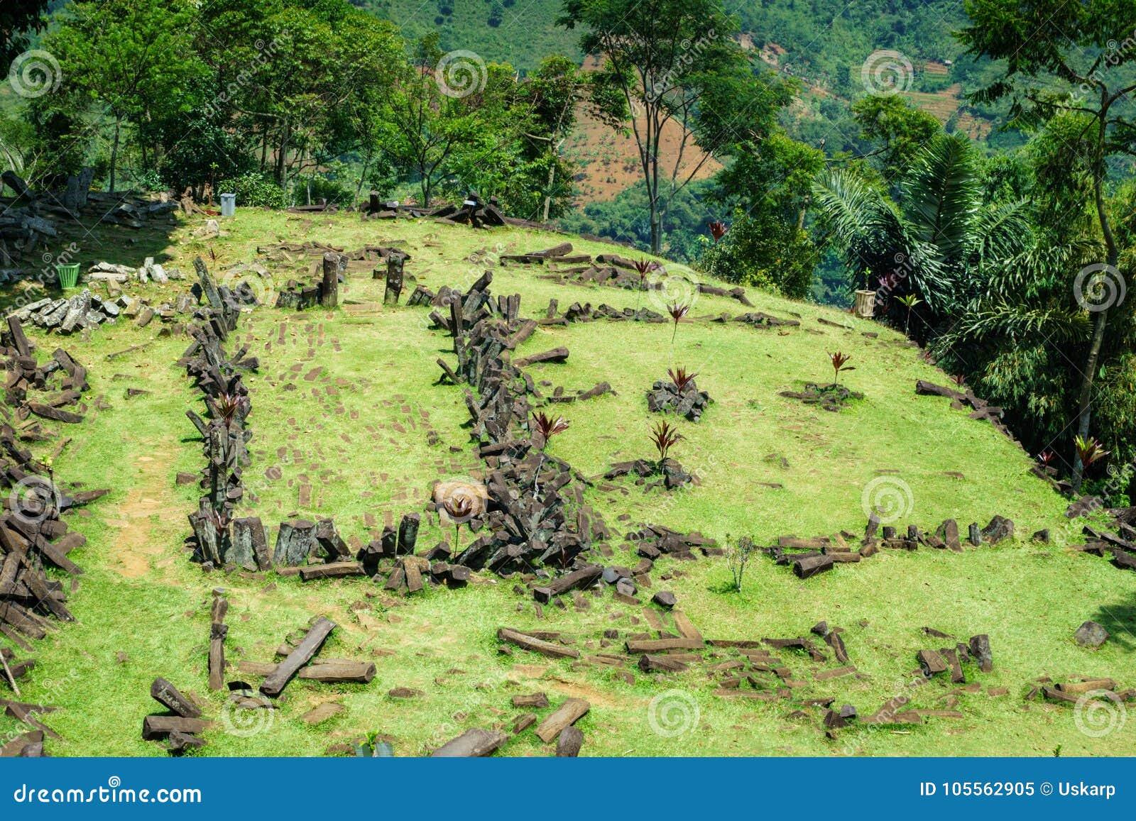 Gunung Padang巨石站点在展玉,西爪哇省,印度尼西亚