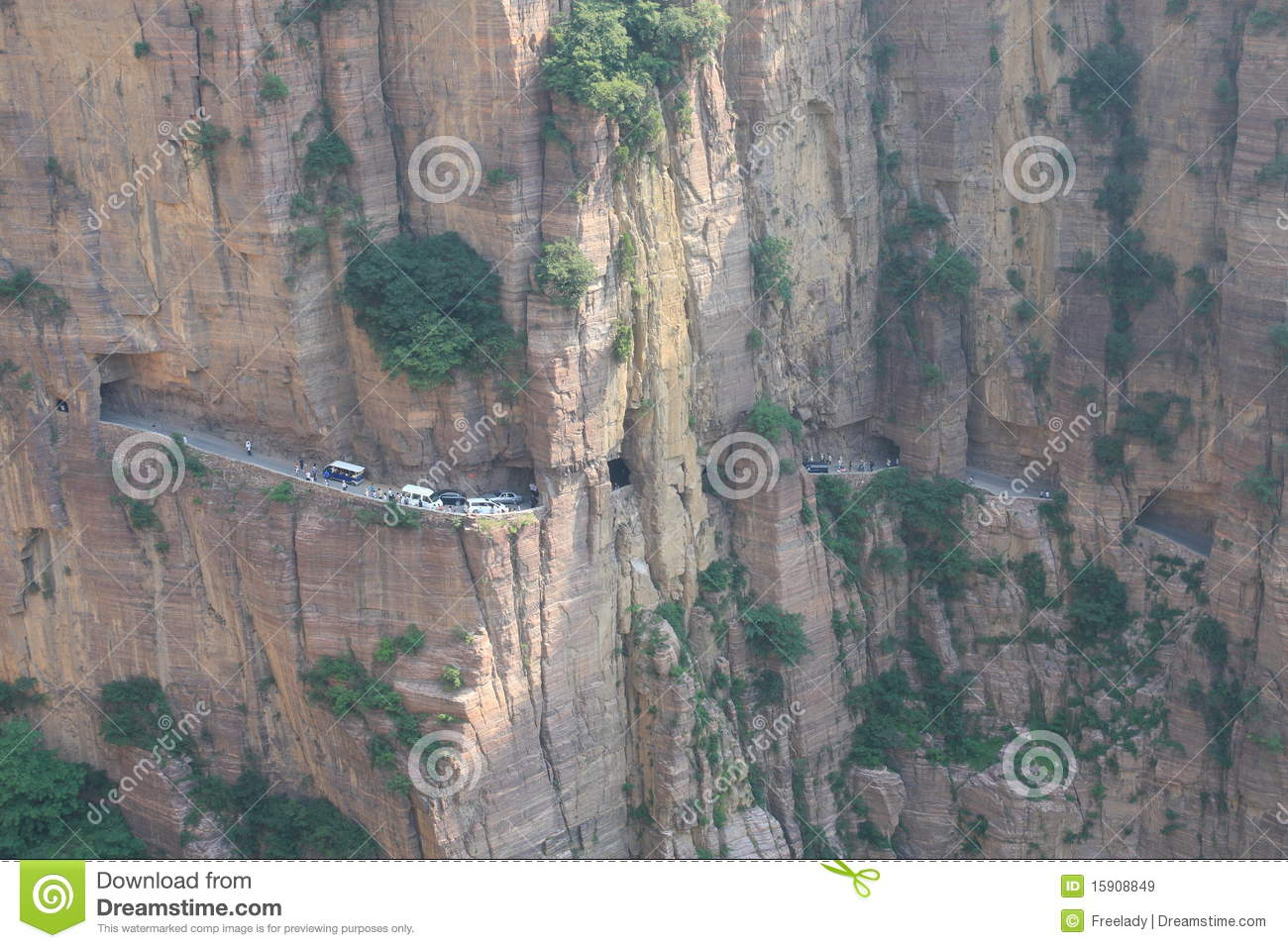 Guoliang Tunnel in Henan province of China