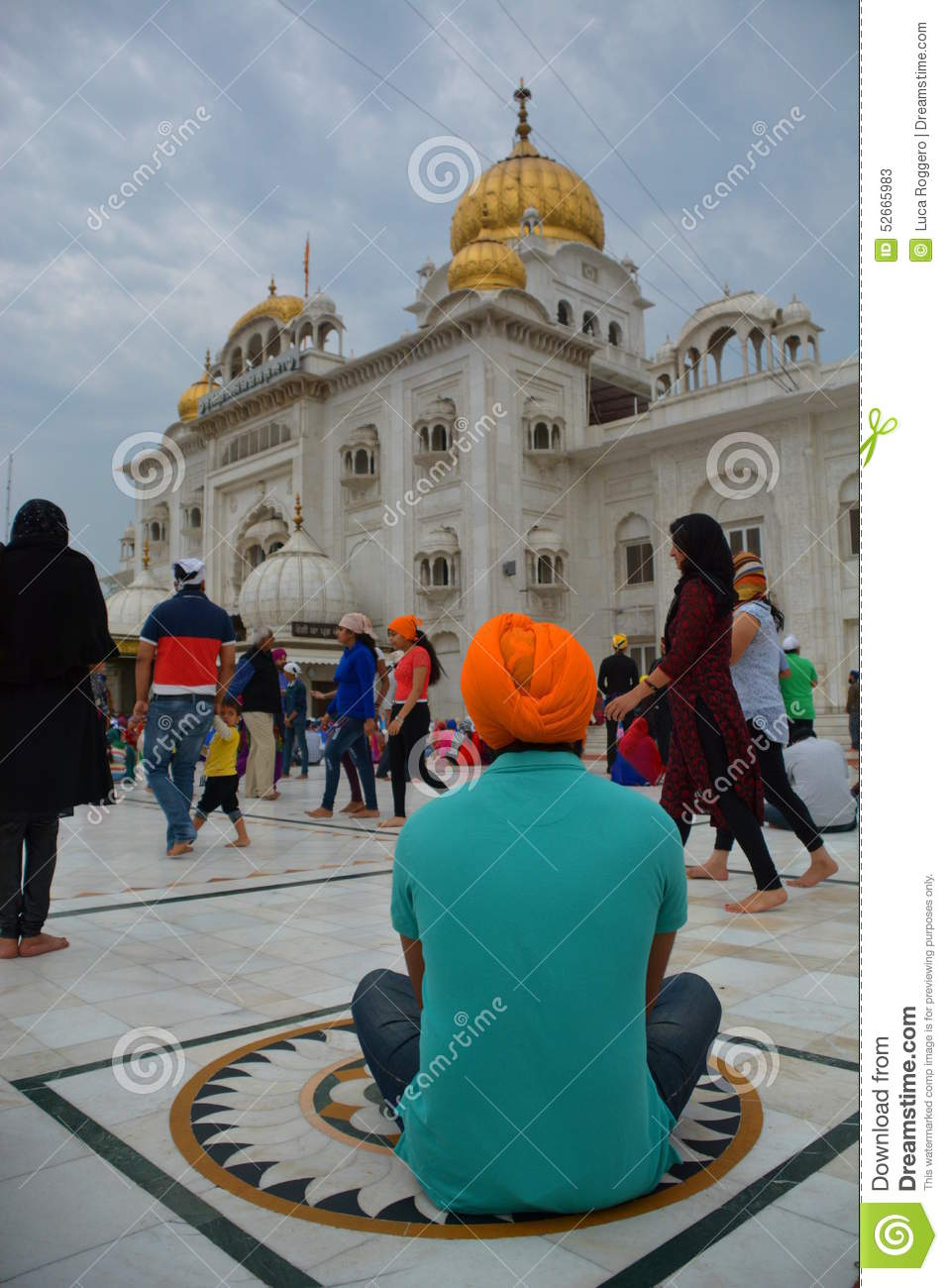Gurdwara Bangla Sahib Temple Delhi India Most Prominent Sikh House Worship Situated Near Connaught Place New