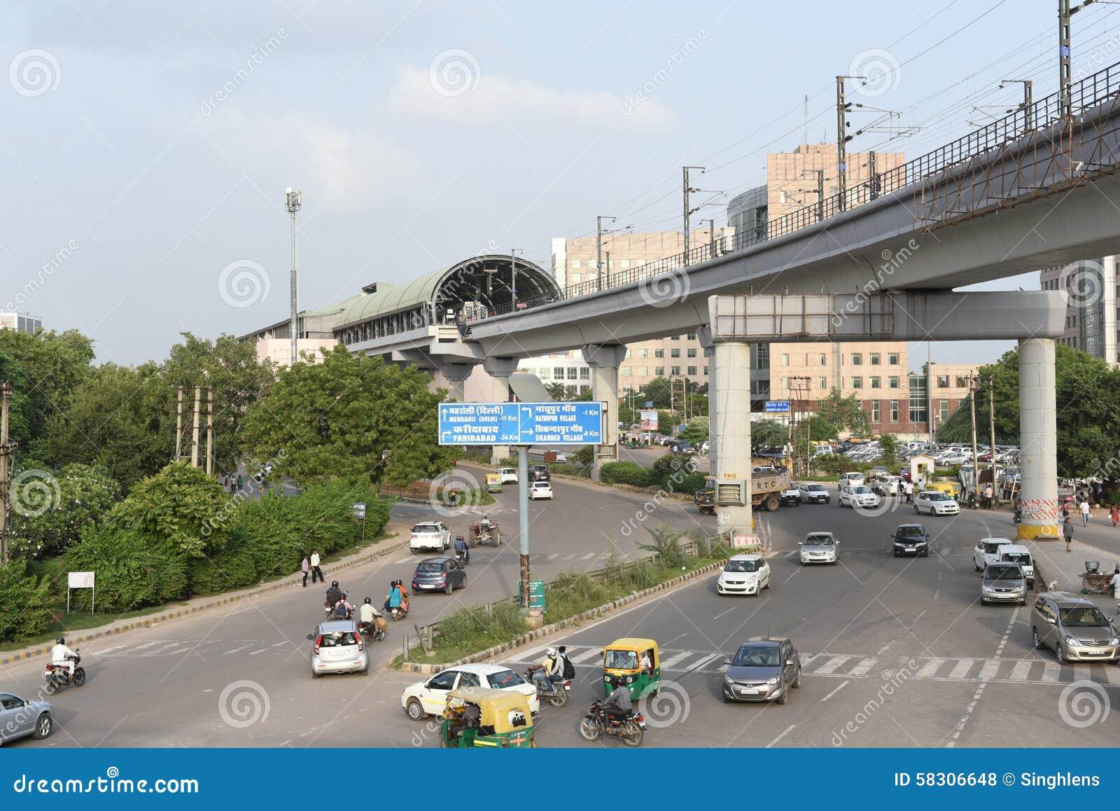 Gurgaon, Delhi, India: August 22nd 2015: Modern ...