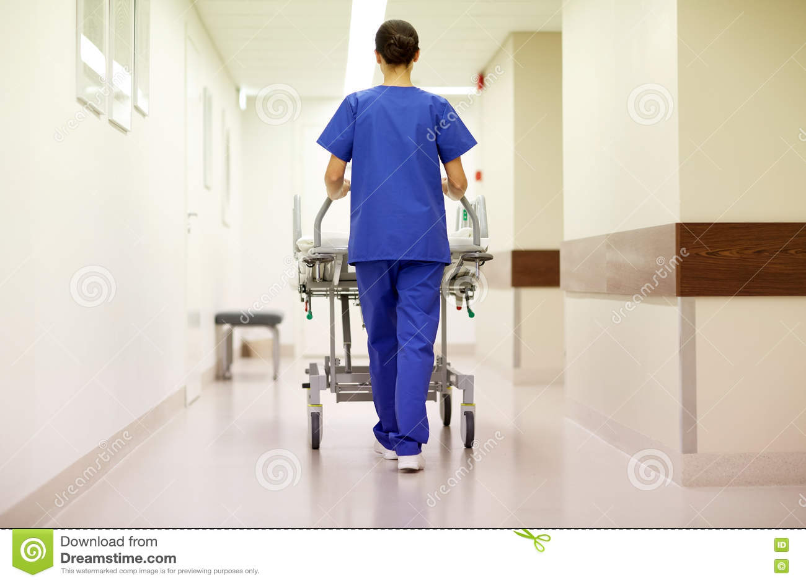 Gurney νοσοκομείων μεταφοράς νοσοκόμων στη εντατική