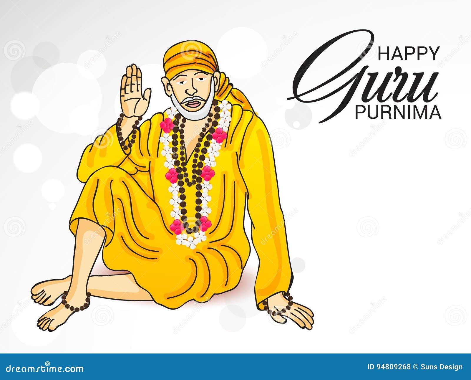 Guru Purnima  stock illustration  Illustration of buddha