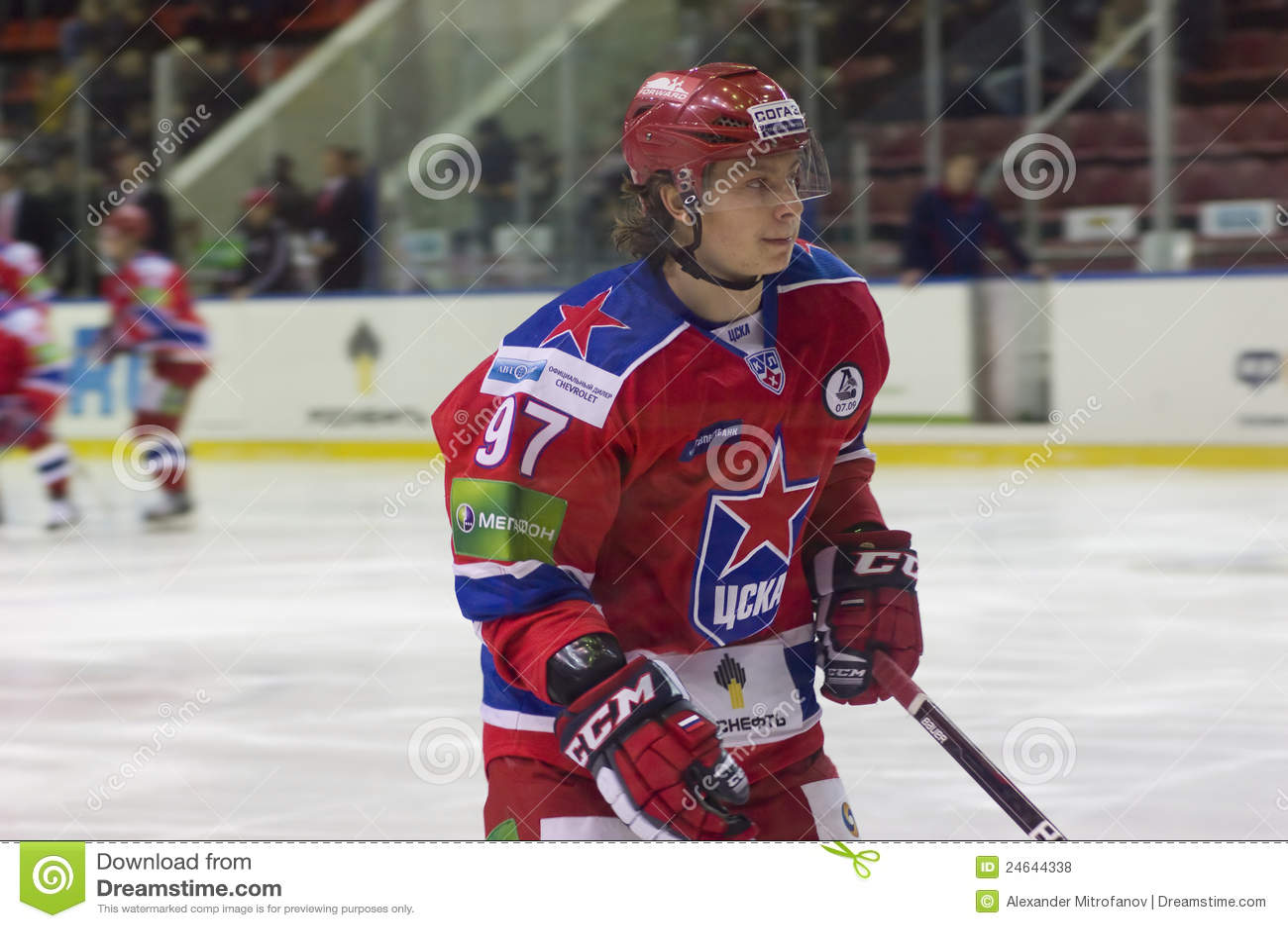 Gusev Nikita. Forward Of CSKA Team Editorial Stock Photo ...