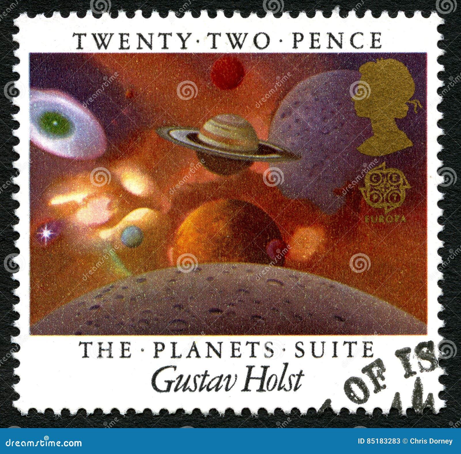 Gustav Holst UK Postage Stamp