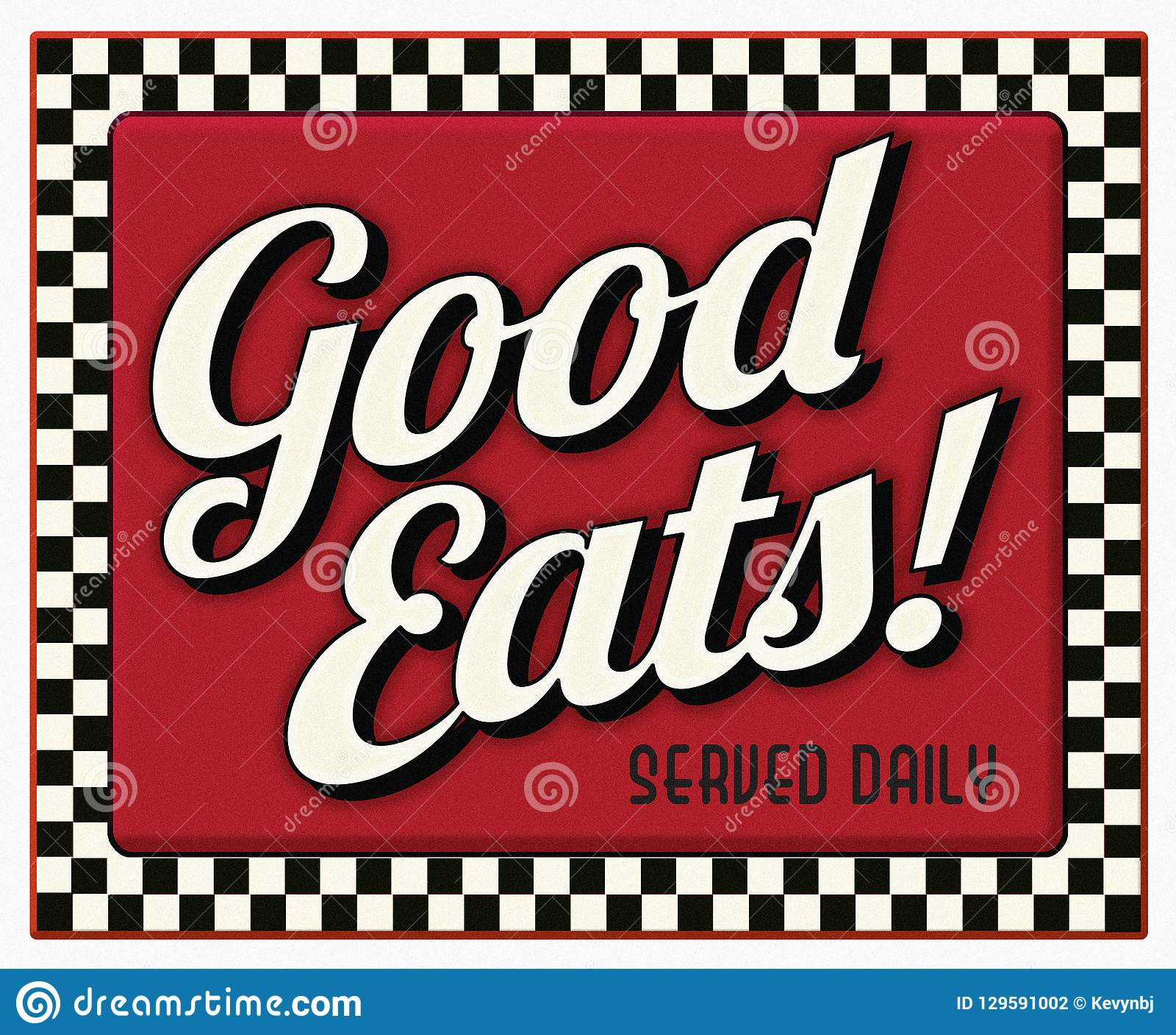 Gut isst gedientes tägliches Restaurant-Zeichen