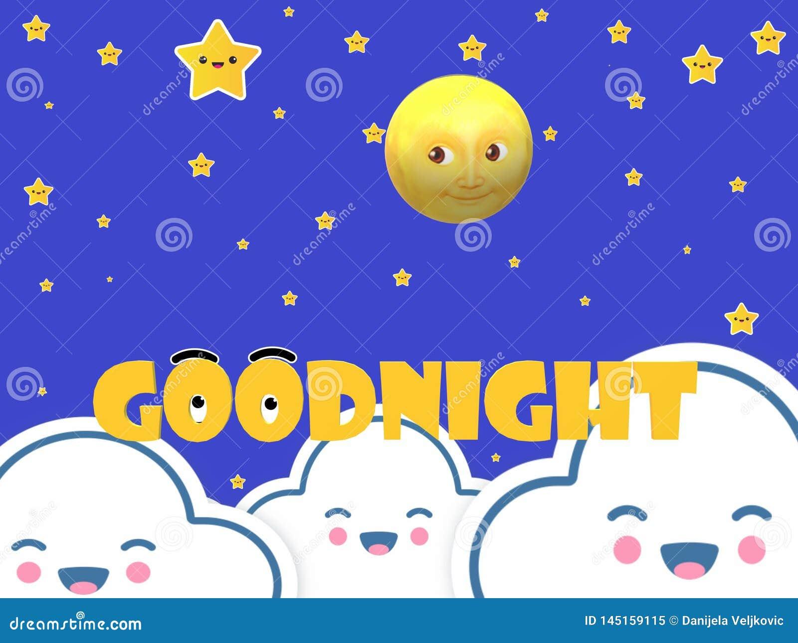 Gute Nachtmondsterne