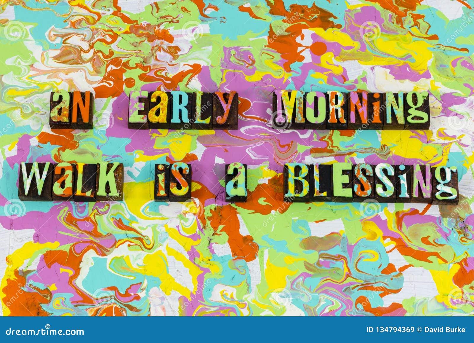 Guten früher Morgen das Leben genießen