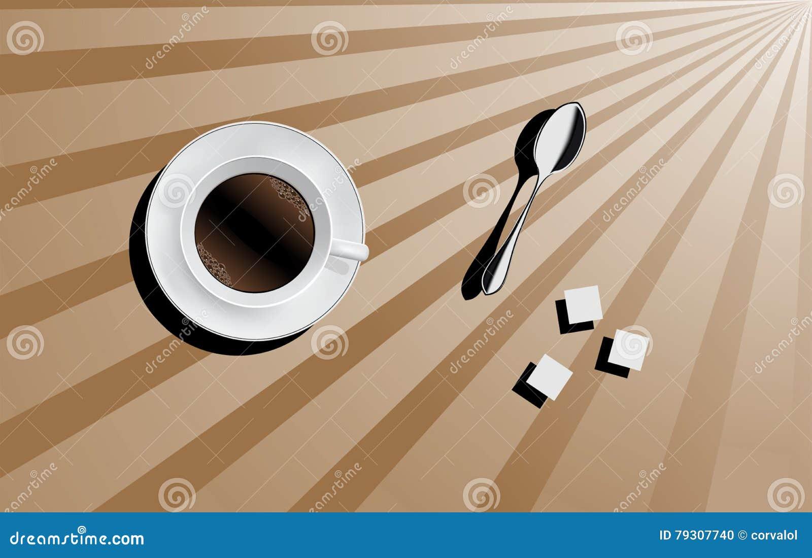 Guten Morgen Tasse Kaffee Vektor Abbildung Illustration Von