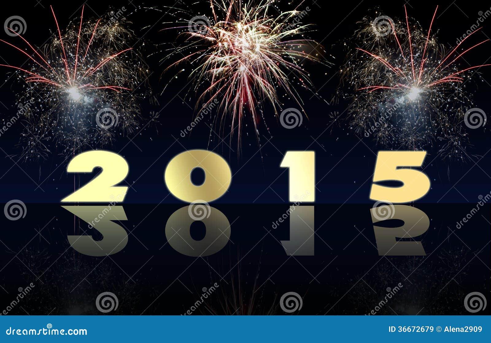 Guten Rutsch Ins Neue Jahr 2015 Stockbild - Bild von kalt ...