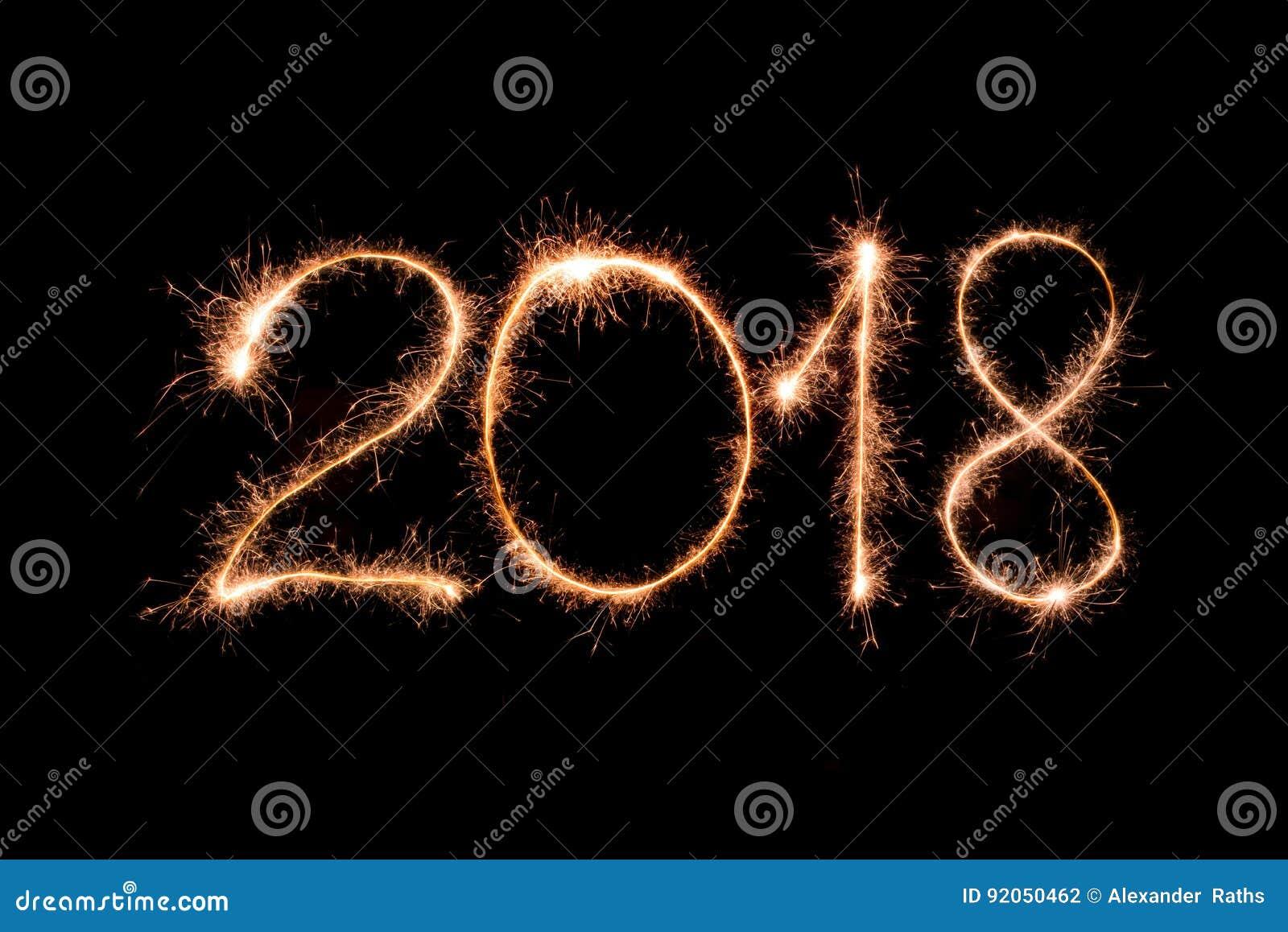 Guten Rutsch Ins Neue Jahr 2018 Stockfoto - Bild von auslegung ...