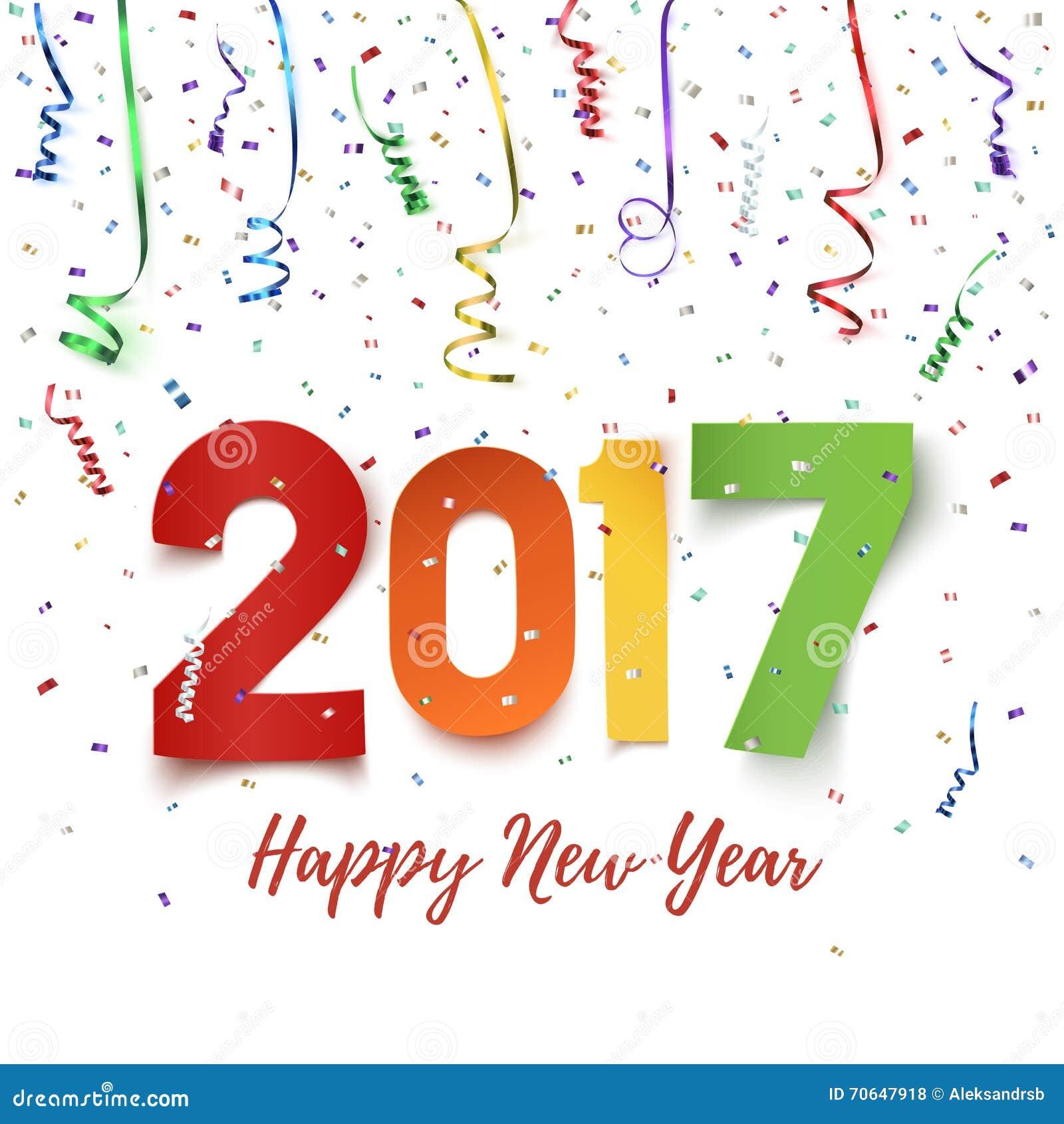 Guten Rutsch ins Neue Jahr-Feierhintergrund 2017