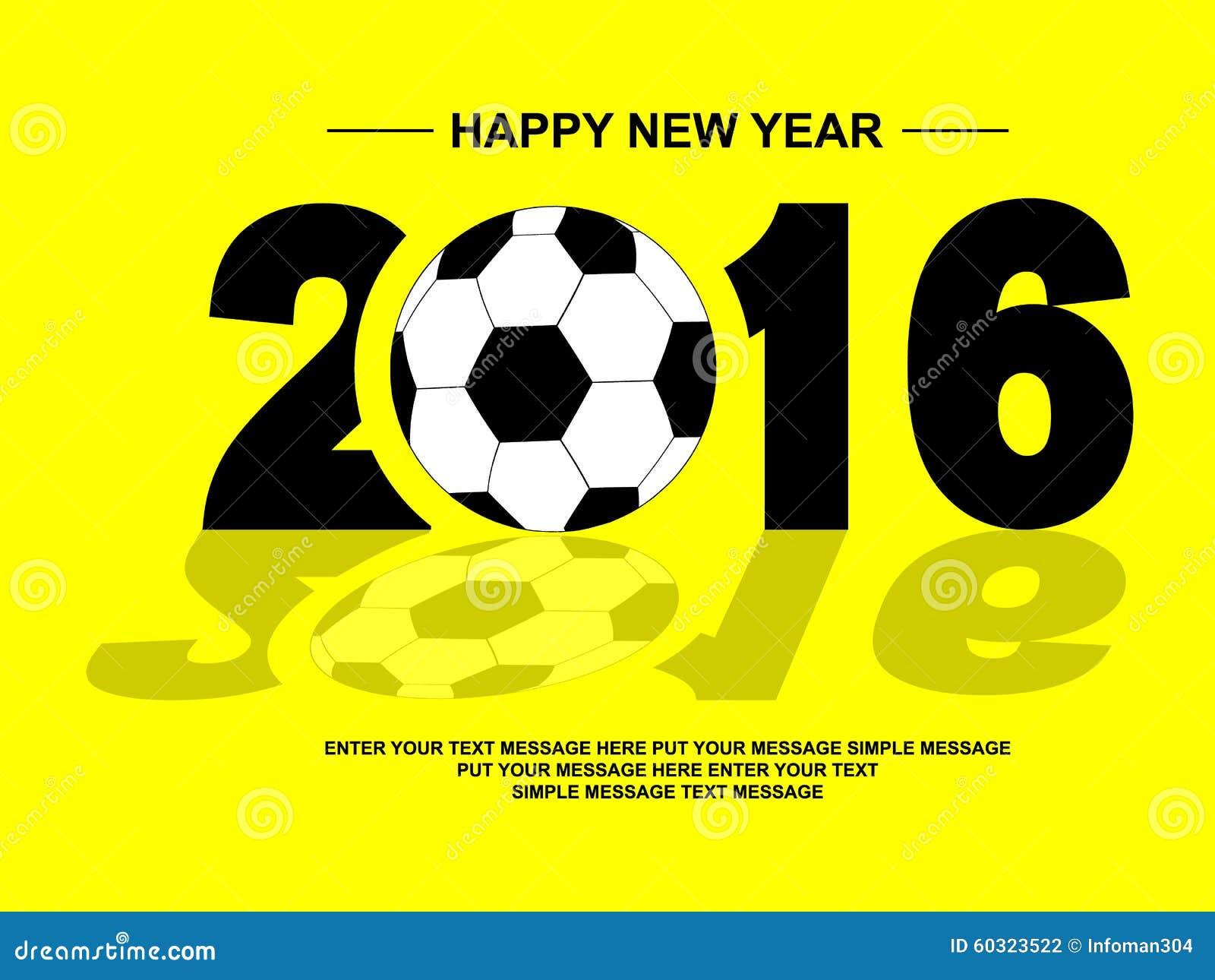 2016 GUTEN RUTSCH INS NEUE JAHR-FUSSBALL Stockfoto - Bild von ...