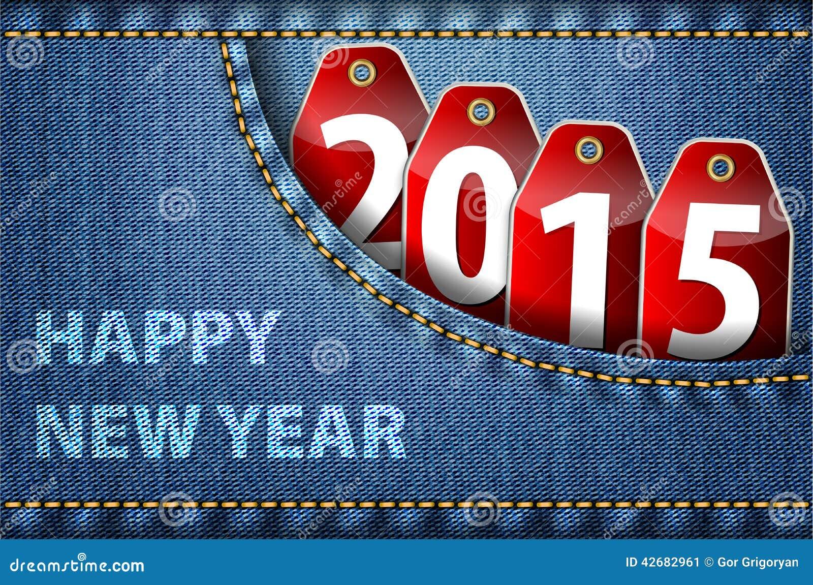 Guten rutsch ins neue jahr grüße und 2015 stellen auf roten tags in