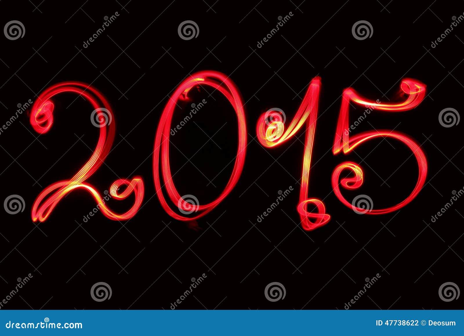 Guten Rutsch Ins Neue Jahr 2015 Grüßend Geschrieben Durch Rotes ...