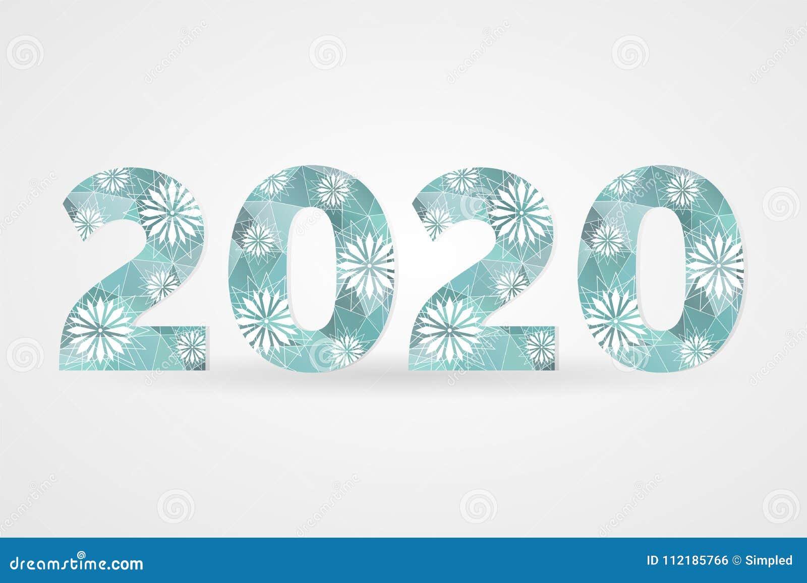 2020-guten Rutsch Ins Neue Jahr-Vektorillustration Dekoratives ...