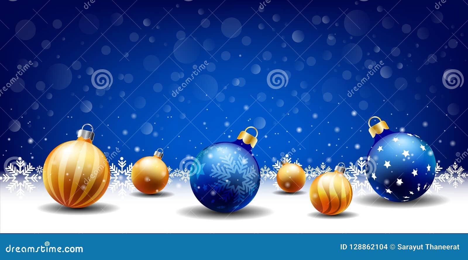 Guten Rutsch ins Neue Jahr-Weihnachtsschneiender Ballhintergrund, Texteingabekasten, blauer Hintergrund