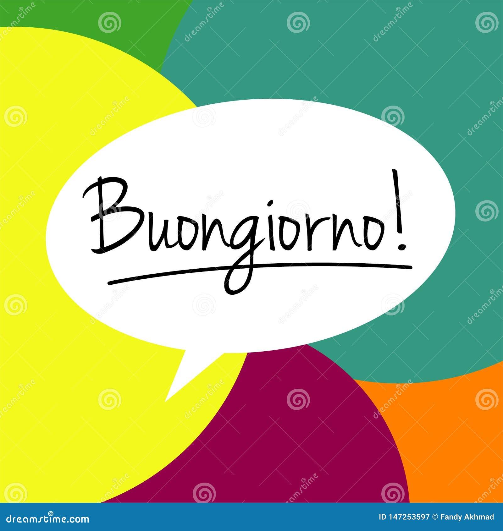 Gutenmorgen Auf Italienisch Buongiorno Stock Abbildung