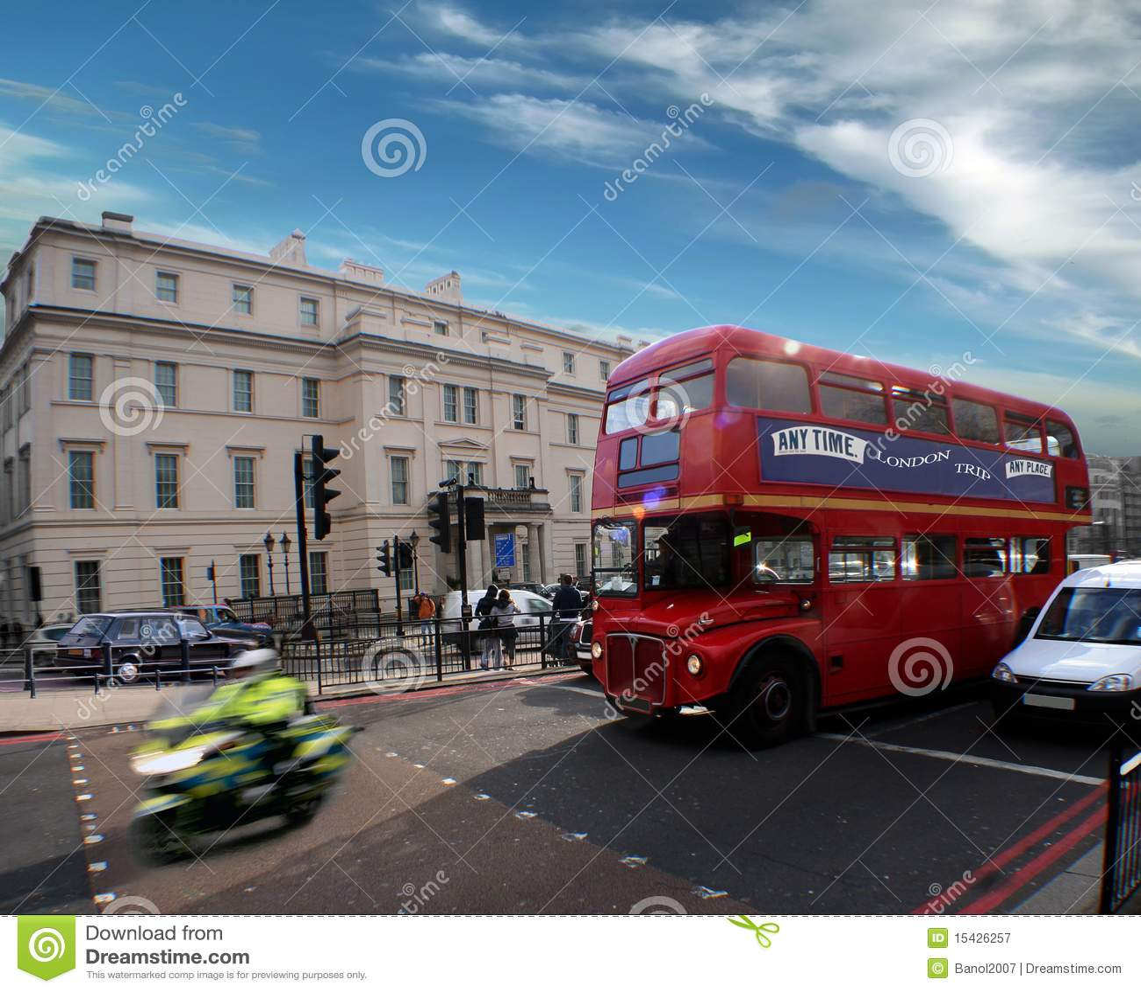 Gutenmorgen Besetzte London Straße Stockbild Bild Von