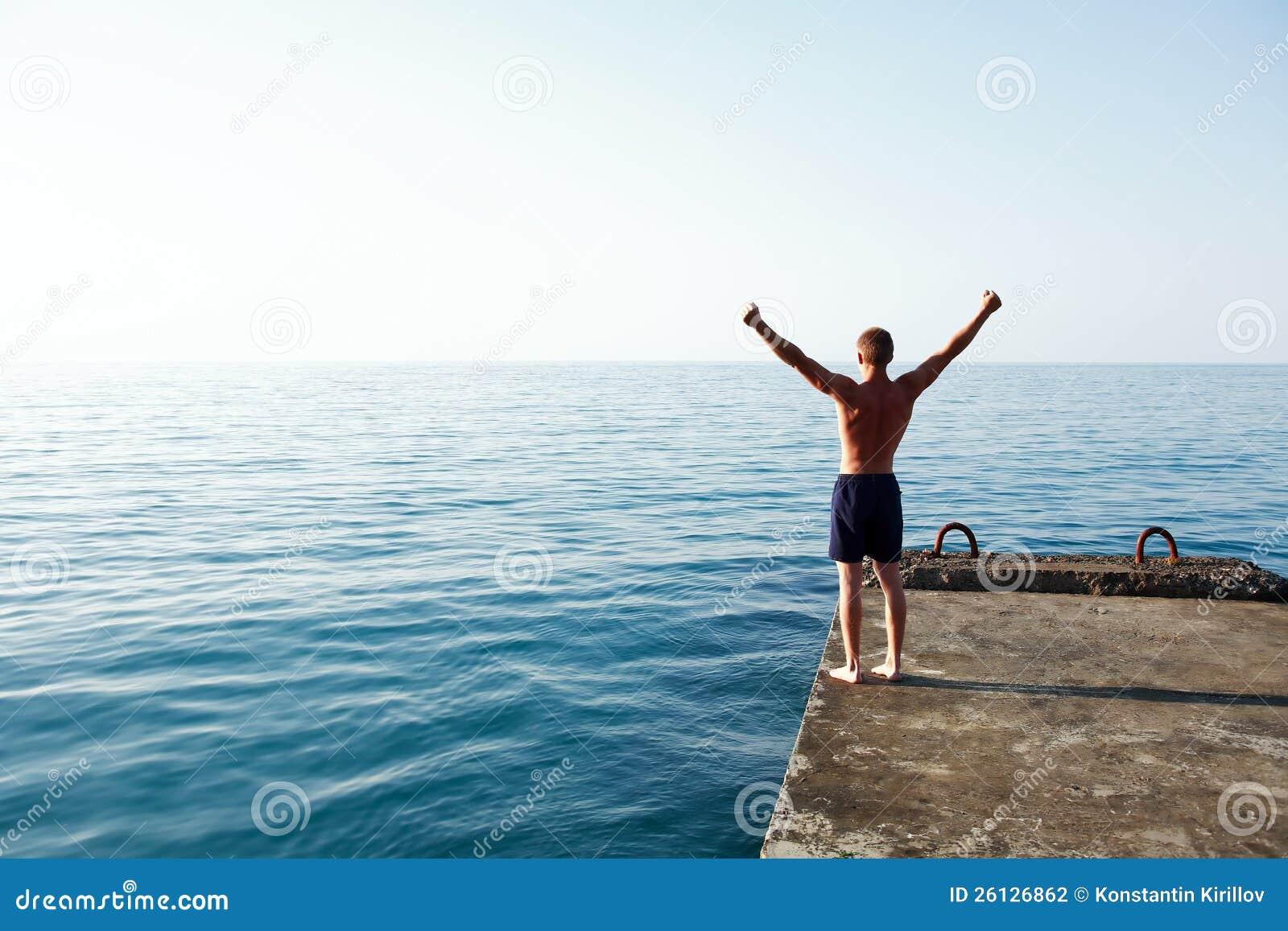 Gutenmorgen Meer Stockfoto Bild Von Gymnastik Gymnast