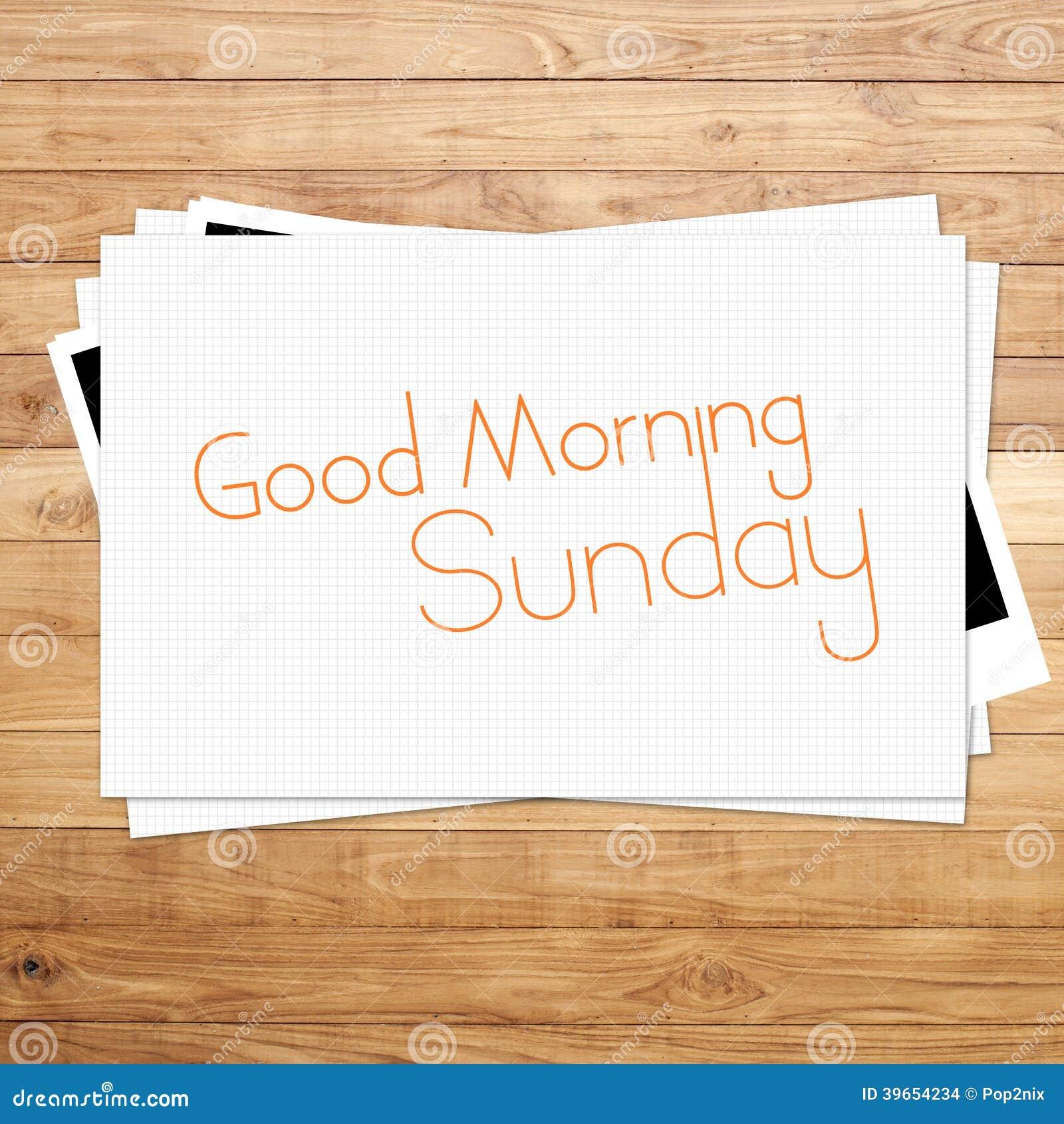Gutenmorgen Sonntag