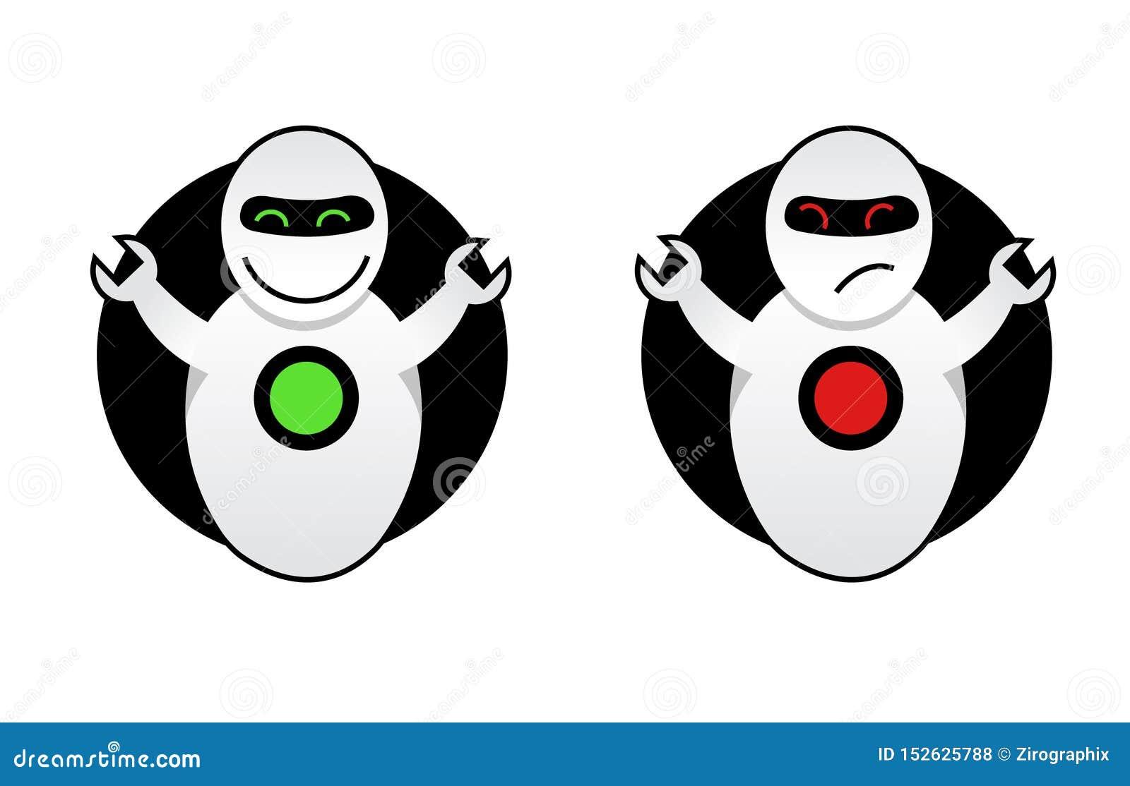 Guter Roboter und schlechter Roboter