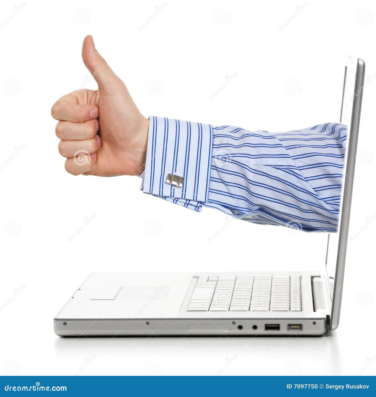 Gutes Angebot Des Internets Stockfoto Bild Von Profil