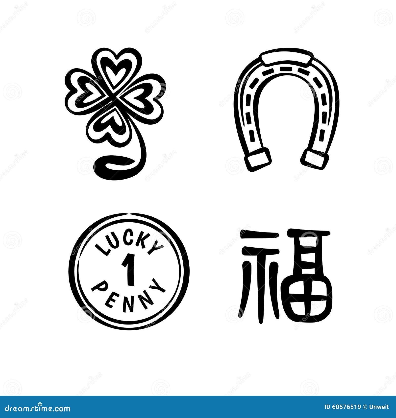 gutes gl ck symbole stock abbildung bild von symbole. Black Bedroom Furniture Sets. Home Design Ideas