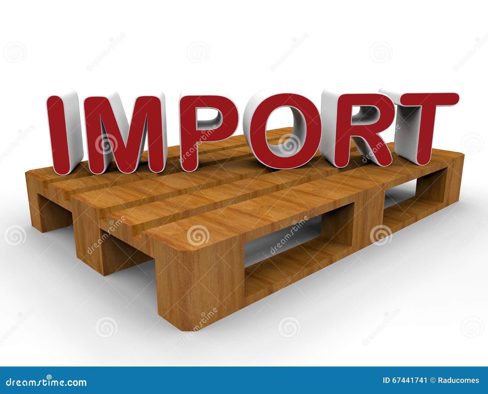 Gutes Konzept des Importes