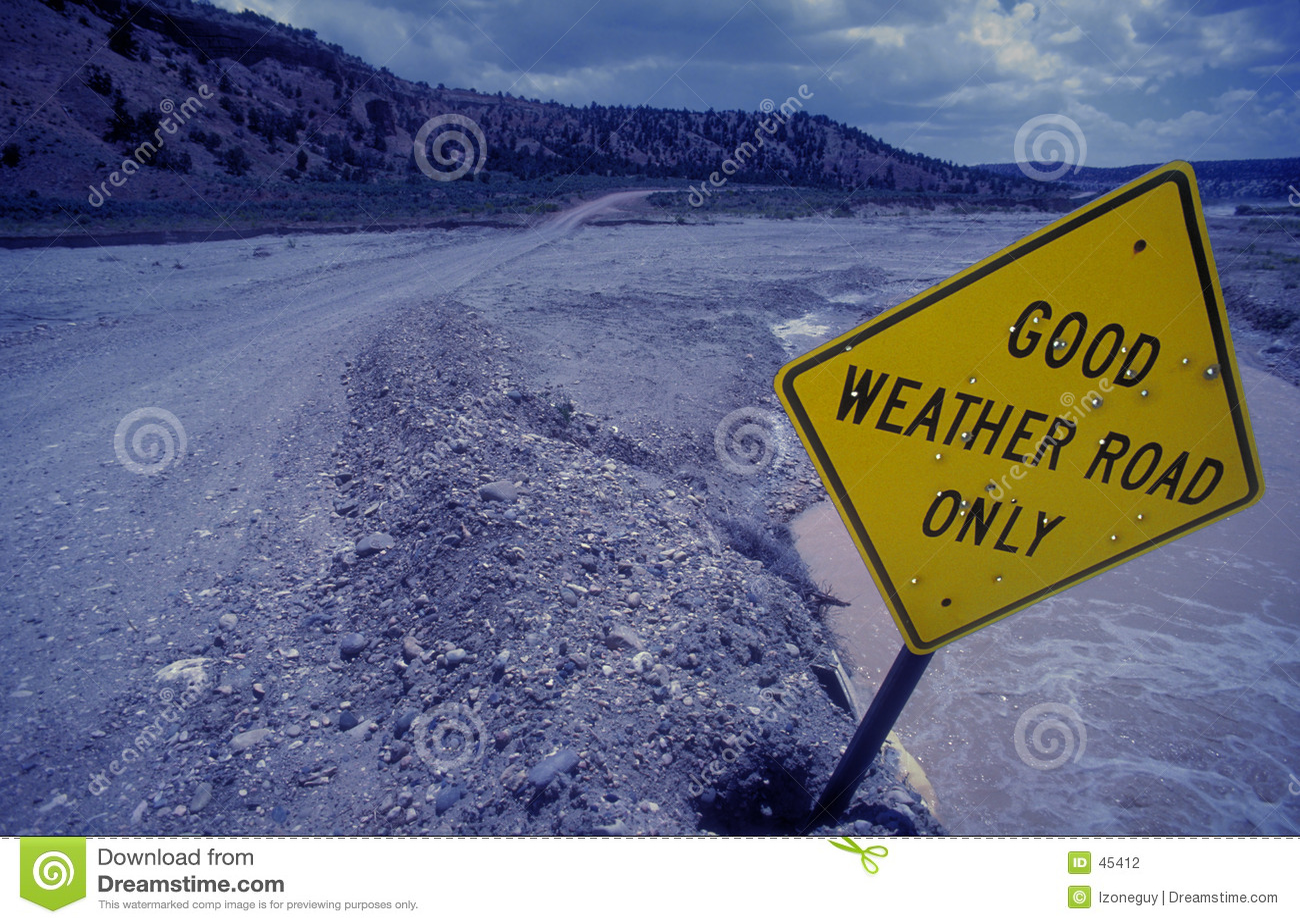 Gutes Wetter-Straße
