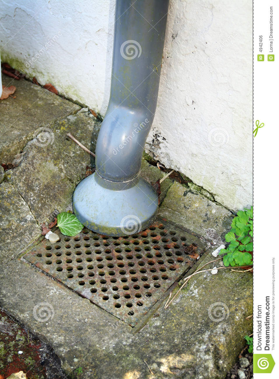 Gutter Drain Pipe Stock Photo Image Of Gutter Plastic