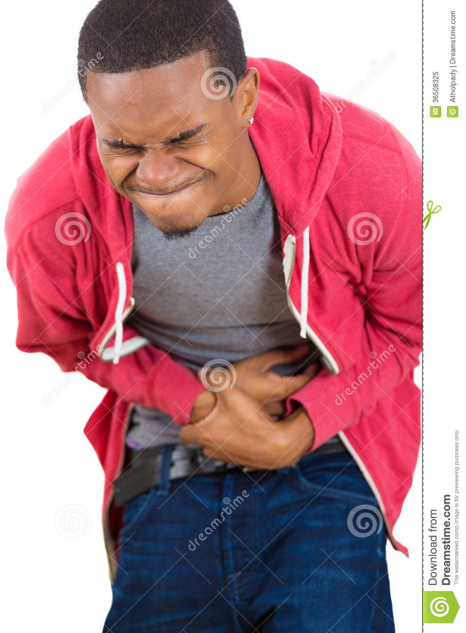 Guy With Bad Stomach Pain Royalty Free Stock Photo