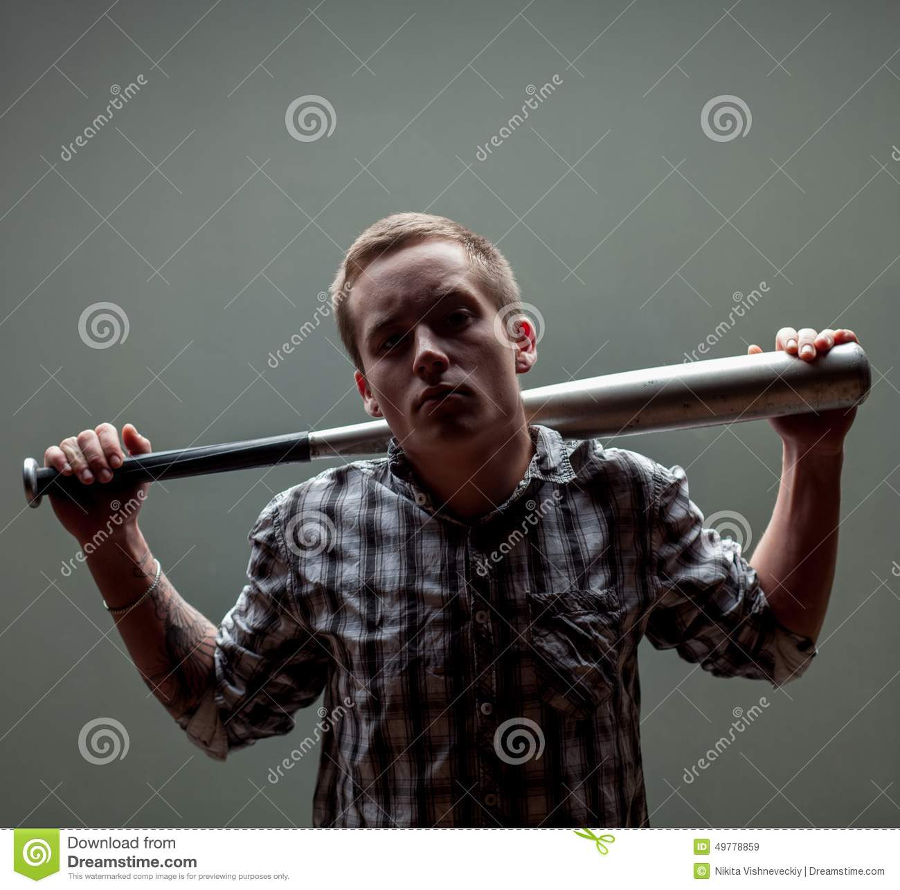 550d62f7160 Guy with a baseball bat stock image. Image of thug