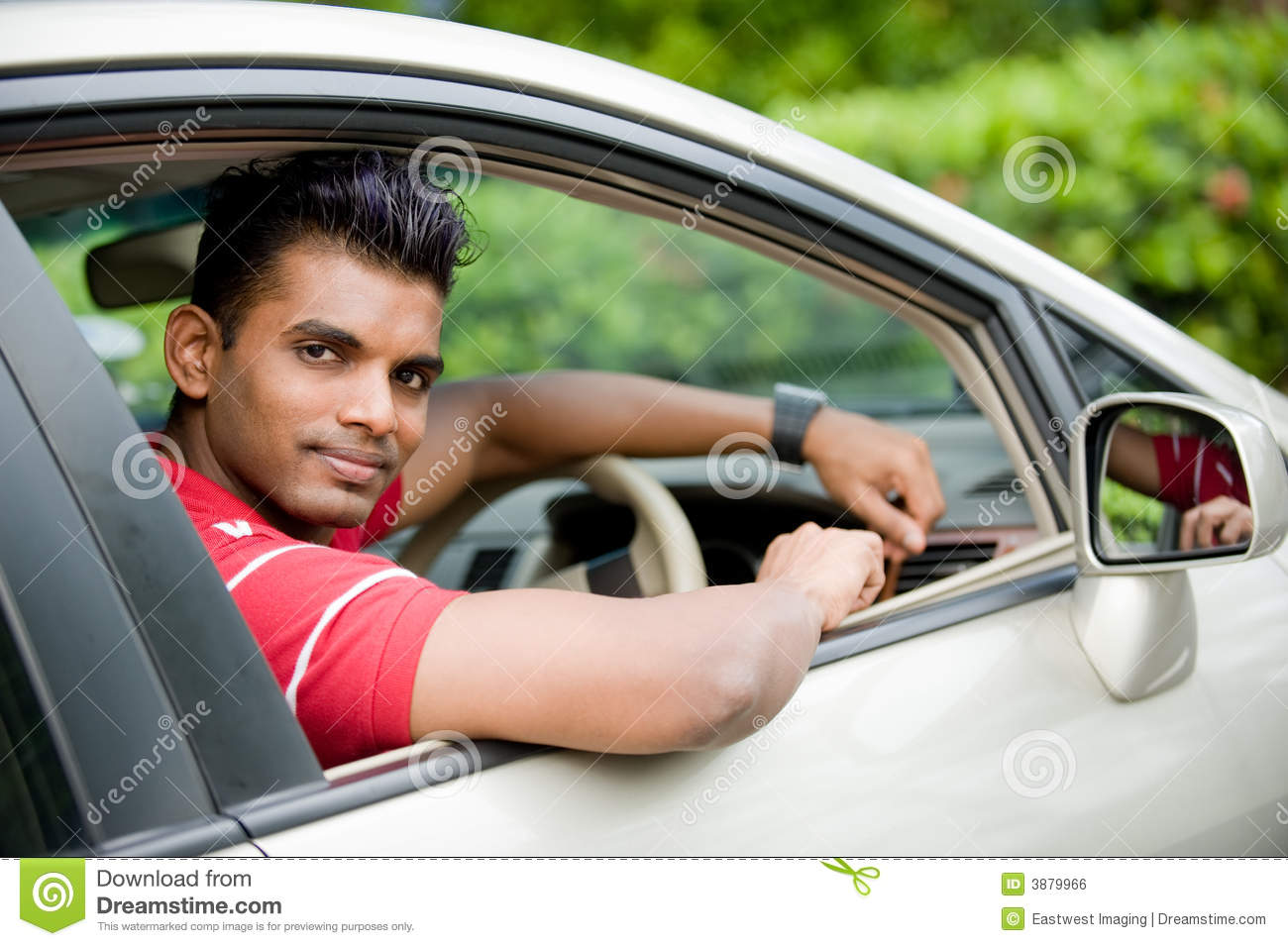 Guy In Car Royalty Free Stock Image Image 3879966
