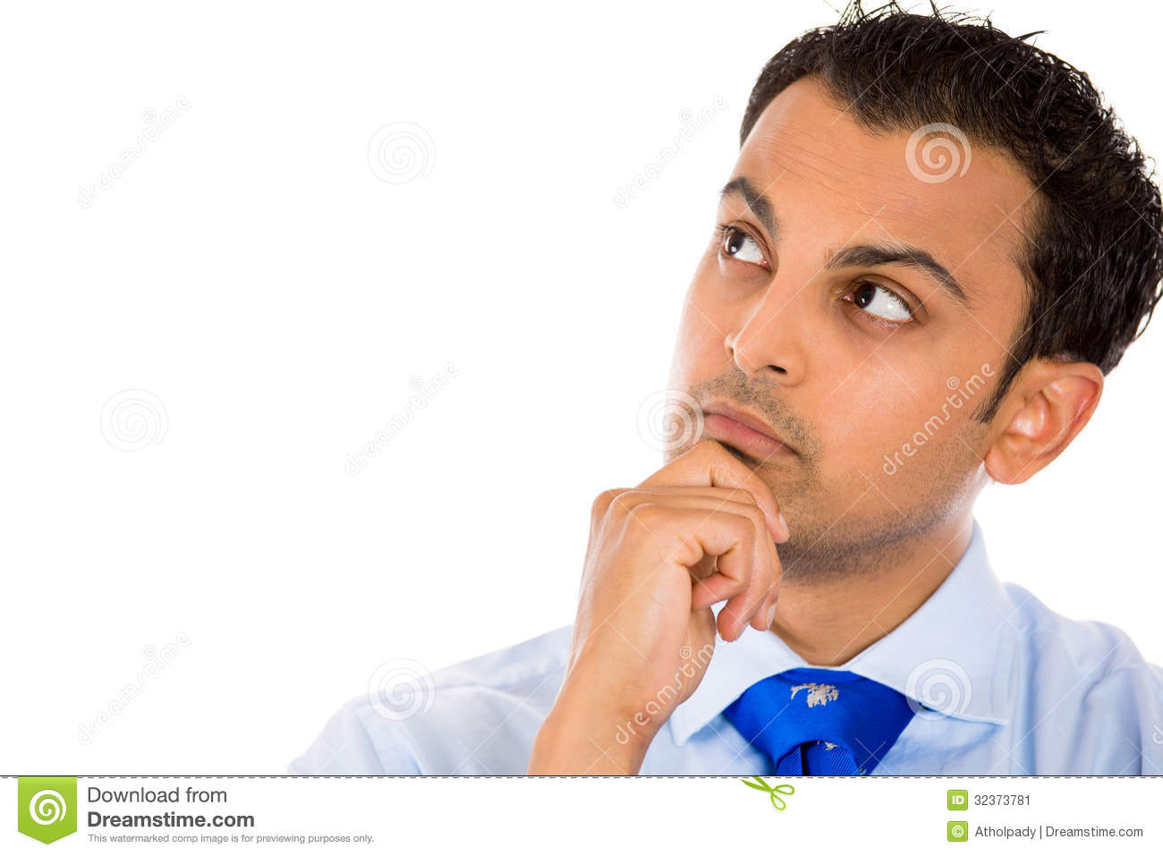 Guy Day Dreaming Deep In Thought Stock Image Image Of Ethnic