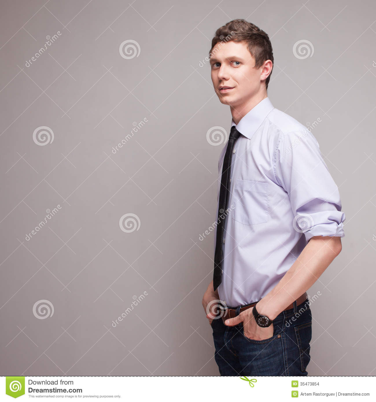 Guy In Formal Wear Stock Photo Image Of Happy Human 35473854