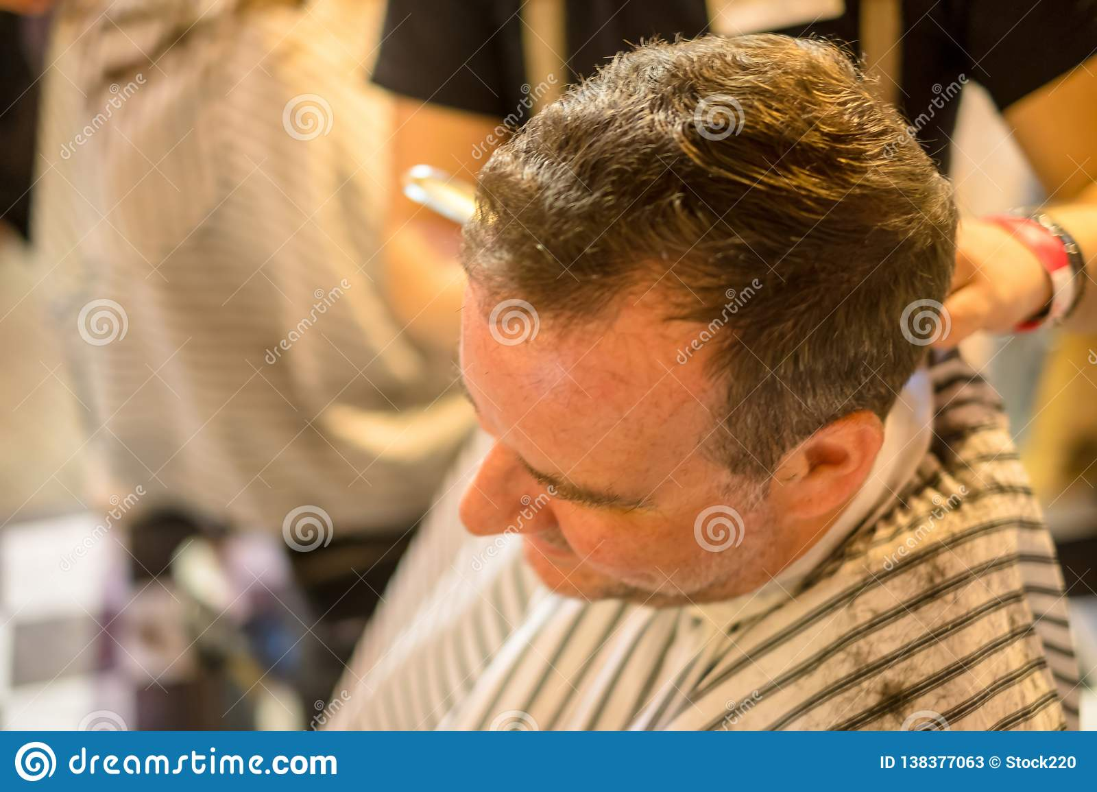 Guy at the hairdresser