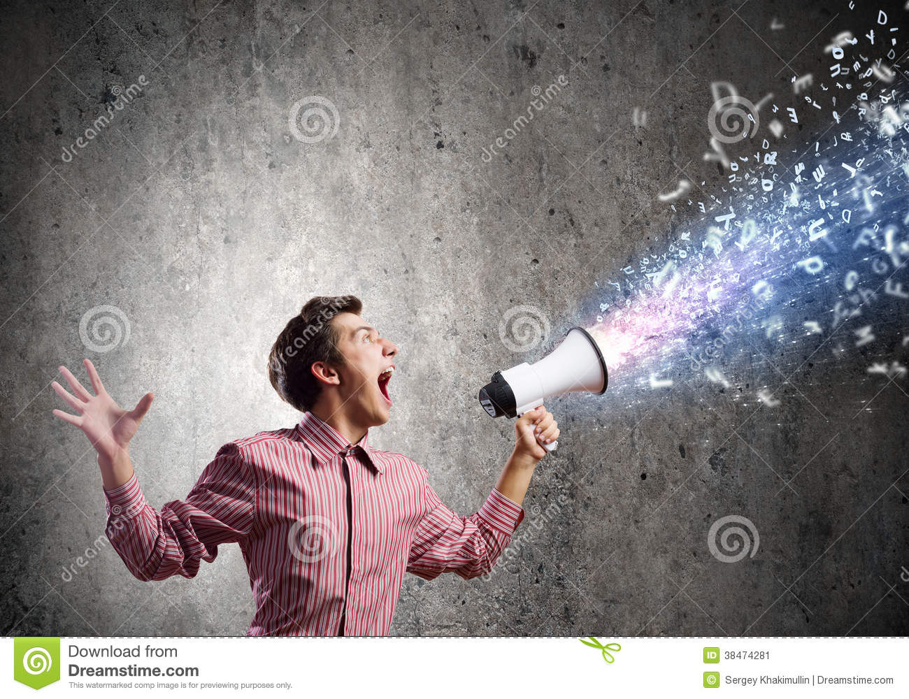 Guy with megaphone
