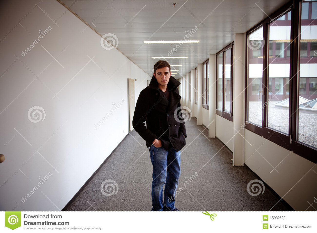 Guy in modern building