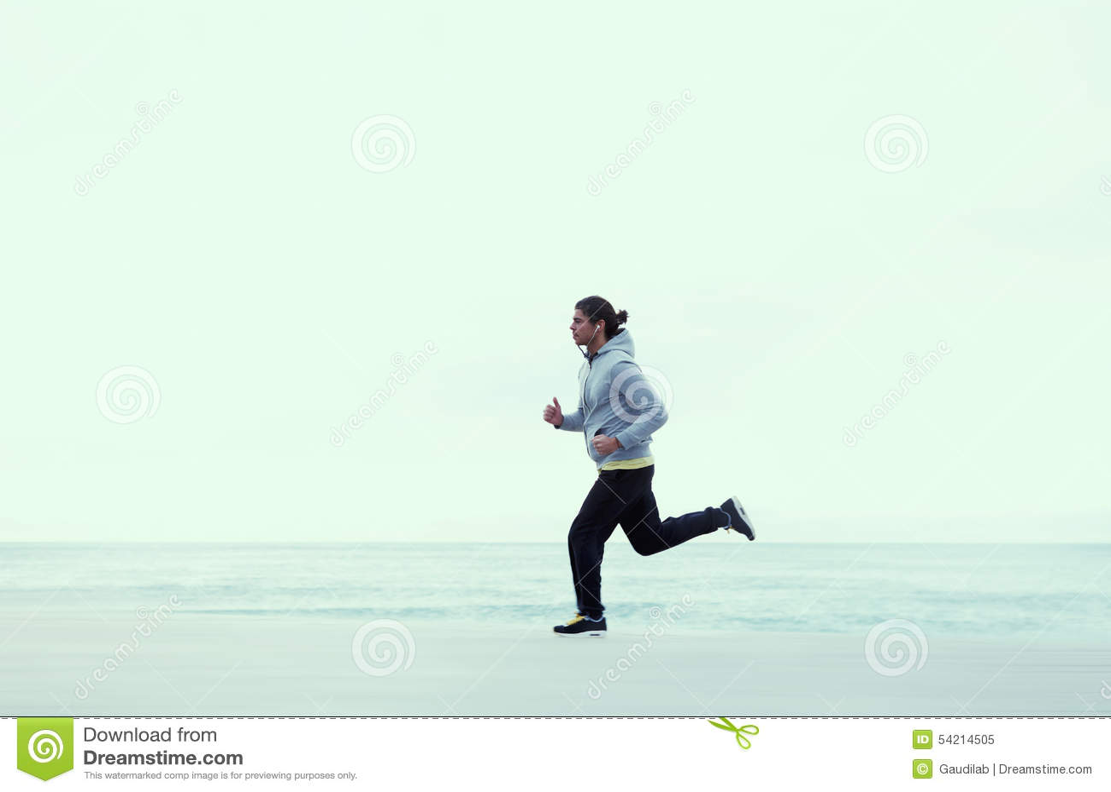Guy runs on fresh air