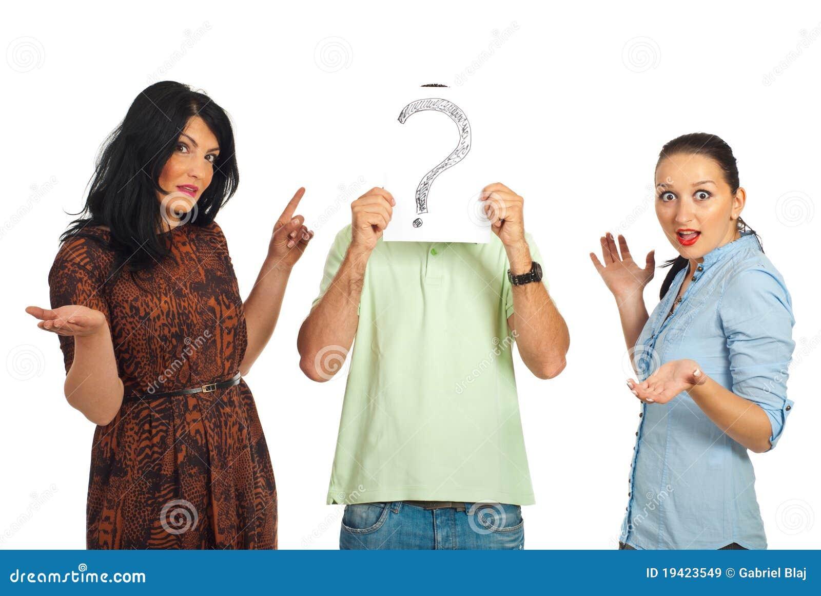 Guy surprised unknown women