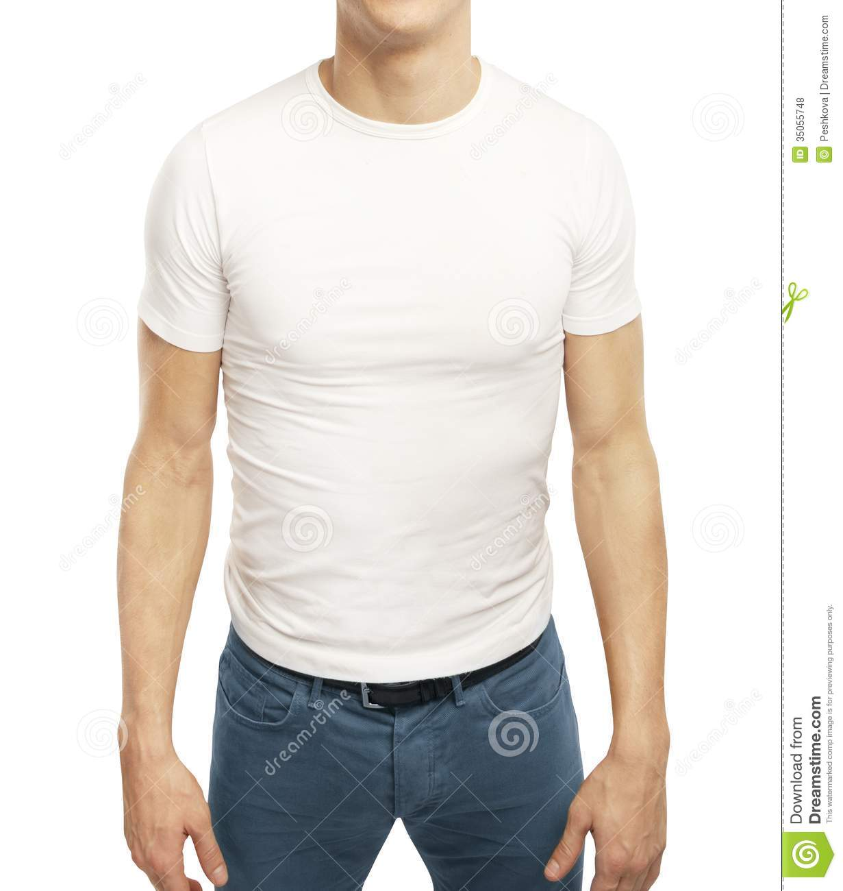 Guy In T-shirt Royalty Free Stock Photos - Image: 35055748